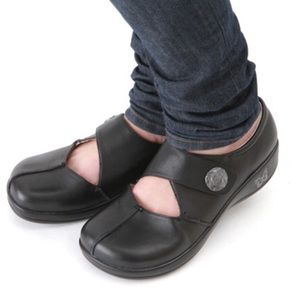 {Alegria} Kaitlyn Pro Black Leather Clogs Size 37